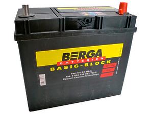 Berga Asia 45Ah тонкие клеммы R+