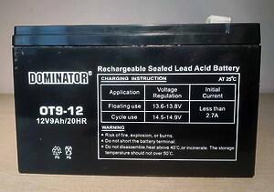 Dominator OT9-12 12V 9Ah L+
