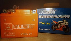 Dominator YTX4L-BS 12V 4Ah R+