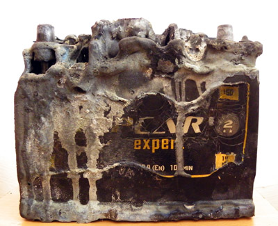 Сгоревший мертвый аккумулятор