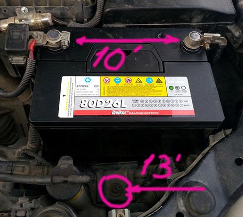 Замена аккумулятора на Hyundai Sonata