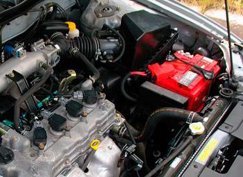 Замена аккумулятора на Nissan Almera