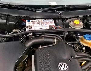 Место АКБ в VW Passat B5/B5+